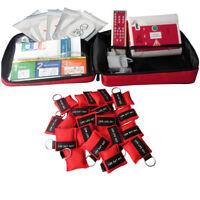 AED Simulatore CPP DAE Trainer +50 portachiavi CPR Maschere di pronto soccorso