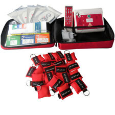 AED Trainer Training Device+50 pcs Keychain CPR Mask For First Aid Training
