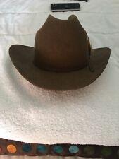 stetson Western hat Size 7 1/4 58. John B Stetson Co. 4 X Beaver genuine brown.