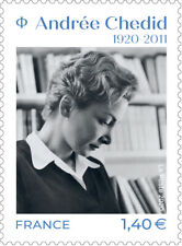 Timbre neuf**  MNH France 2020 : Andrée Chedid (1920-2011)