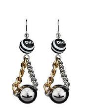 D & G Dolce & Gabbana Black White Resin Beads Hanging Earrings DJ0833