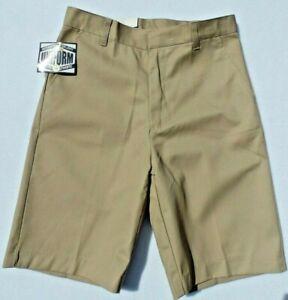 NWT Boys School Uniform Khaki Shorts Adjustable Waist Select-Size Breathable