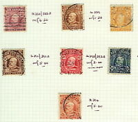 New Zealand 1909/16 range of portrait issues to 1/- perf 14x14 ½ sg388/94 Stamps
