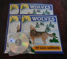 Wolves by Gail Gibbons New Scholastic Listening Center 4 Book Set with CD
