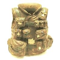 Military Tactical Vest Camo Pen Holder New 3x3 1/2inch Decor Polyresin