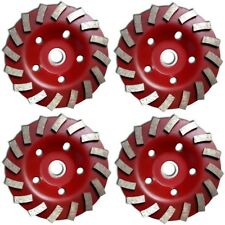"4 PACK - 5 inch 5"" Diamond segment grinding CUP wheel disc grinder concrete Gran"