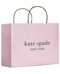"KATE SPADE SHOPPING PAPER GIFT BAG Pink 10"" x 8"" x 4.5""  NEW"