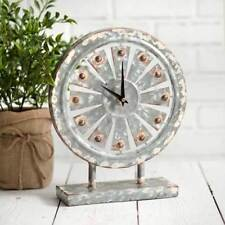 Country new farmhouse distressed tin standing WINDMILL clock