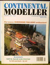 Railway magazine ~  CONTINENTAL MODELLER ~ January 1995 edition