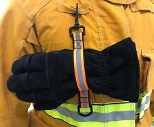 Firefighter Glove Strap Adjustable Emergency Gloves Safety Leash Holder - Orange