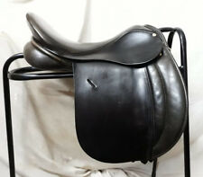 "16"" Wide Black Leather English Made Dever WHP VSD Show Saddle"