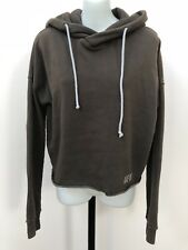 Abercrombie & Fitch Sweatshirt Cropped Hooded Pullover XS Green A&F Long Sleeve