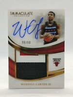 2018-19 Panini Immaculate - Wendell Carter Jr. Patch/Auto - Bulls - #6/50 RC