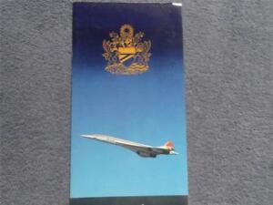 British Airways Concorde Menú Londres - Nueva York 14th puede 1984