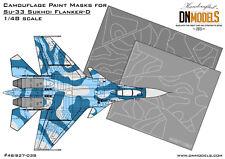 Camouflage Paint Masks Su-33 Flanker-D Sukhoi Camo 1/48 scale DN Models