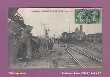 CARTE-POSTALE ANCIENNE 1909 : ACCIDENT FERROVIAIRE DE DIJON-PERRIGNY, TRAIN -A17