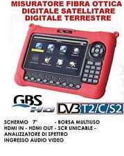 """MISURATORE  DI CAMPO SEGNALE DVB-T2 E DVB-S SAT GBS43897 7"""" ANALIZZATORE SPETTRO"""