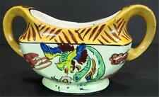 Latino Influence Pottery Open Sugar Bowl Made in Japan Stylized Colorful Parrot