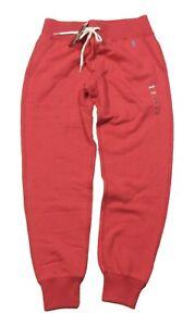 Polo Ralph Lauren Women's Nantucket Red Fleece Lined Jogger Pants