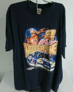 Vintage Rusty Wallace T-shirt XL Miller Lite NASCAR Chase
