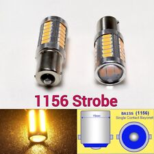 Strobe 1156 P21W 7506 33 LED Projector Amber Bulb Rear Signal B1 For Audi VW U