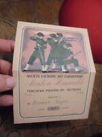 Société Vaudoise des Carabiniers 1949 Concours de Tir