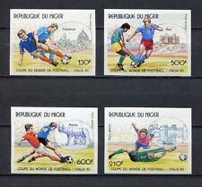 s6443) NIGER 1990 MNH** WC Football- CM Calcio 4v IMPERF