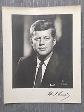 PHOTO OF JOHN F. KENNEDY SIGNED FACSIMILE, Picture By Famous Fabian Bachrach JFK