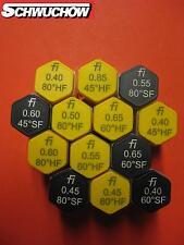 Fluidics fi Öldüse Öldüsen 0,40 0,45 0,50 0,55 0,60 0,65 Sgal/h 45°60°80°HF SF