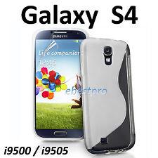 Accessoire Housse Coque S Line Transparent Samsung Galaxy S4 I9500 I9505 +Film