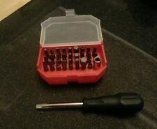 "Halfords professional advanced 1/4"" Socket Tool Set Pozi Phillips Hex Torx"