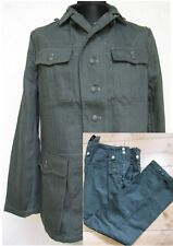 WH M40 Drillich Uniform Feldjacke + Feldhose HBT Tunic Gr 50 WK2 WWII Wehrmacht