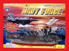 Military Army Marines Navy Battery Operated Naval Aircraft Carrier Water Toy