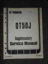1982 Yamaha QT50J Service Repair Shop Supplementary Manual OEM FACTORY