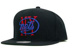 Mitchell & Ness NBA New York Nets Old School Logo Black Team Snapback Cap Hat