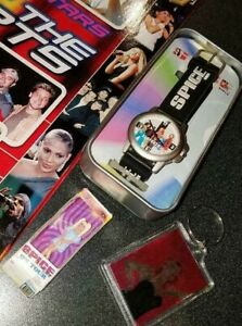 Rare Vintage 1997 Spice Girls Watch with Original Collectors Tin,PLUS MORE