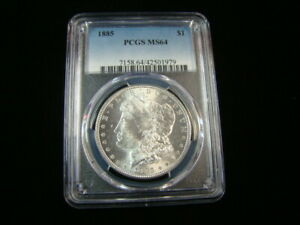 1885 Morgan Silver Dollar PCGS Graded MS64 Brilliant Uncirculated #42501979