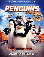 Penguins of Madagascar (Blu-ray/DVD, 2015, 2-Disc + Digital HD) w/slipcover, NEW