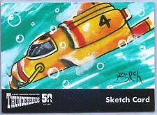 Thunderbirds 50 Years Sketch Card by Steven Burch of Thunderbird Four