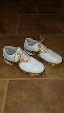 Womens Ladies Footjoy Dryjoys Golf shoes SZ 7 M Spikes FJ Classy Colors GUC