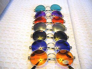 """JOHN LENNON SUNGLASSES "" LARGER 2"" CLASSIC ROUND GLASSES RAY OF COLORS (7015)"