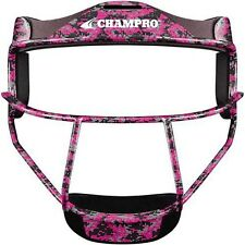 CHAMPRO The Grill Softball Wide Vision YOUTH or ADULT Fielder Mask, Pink Camo