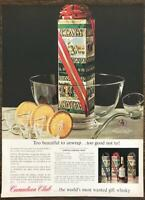 1962 Canadian Club Whiskey Print Ad World's Most Wanted Gift Whisky