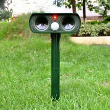 Animal Repeller Ultrasonic Solar Power Outdoor Garden Pest Cat Mice Deer Sensor