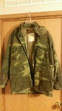 f116301a117ad RARE Duck Bay M56 field jacket. Liner. Large. Woodland Fred Bear style camo
