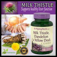 Milk Thistle Dandelion Yellow Dock Liver Detox Cleanse Supplement 180 Capsule