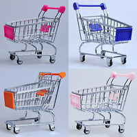 EE_ SUPERMARKET HAND TROLLEY MINI SHOPPING CART STORAGE TOY GIFT FANTASTIC