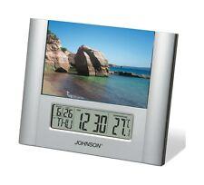 Orologio digitale Johnson sveglia portafoto calendario temperatura SVD205 Rotex
