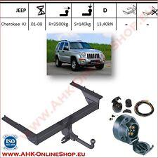 Gancio traino fisso Jeep Cherokee KJ 2001-2007 + kit elettrico 7-poli