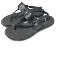 B.O.C Born Concepts Womens Open Toe Slingback Leather Sandals Size 9 Black Shoes